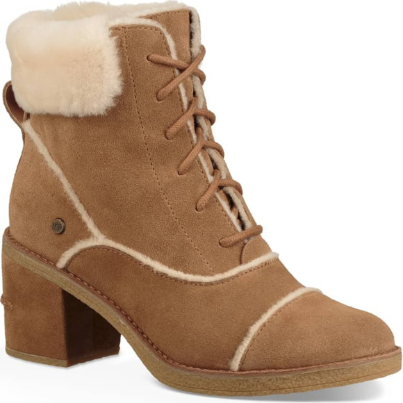 UGG Shoes - UGG Esterly Lace Up Boots - Chestnut